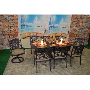 Darby Home Co Nola 9 Piece Sunbrella Dining Set with Cushions