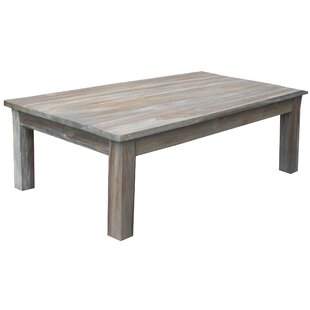 Lorie Teak Rustic Coffee Table Loon Peak