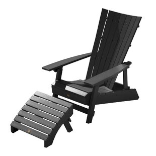 Breakwater Bay Deutsch Plastic Adirondack Chair with Ottoman