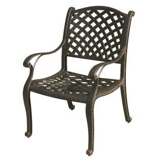 Lincolnville Stacking Patio Dining Chair With Cushion by Fleur De Lis Living Cool