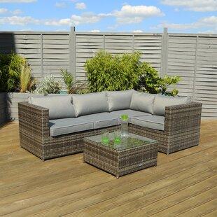 Talisha 5 Seater Rattan Corner Sofa Set Image