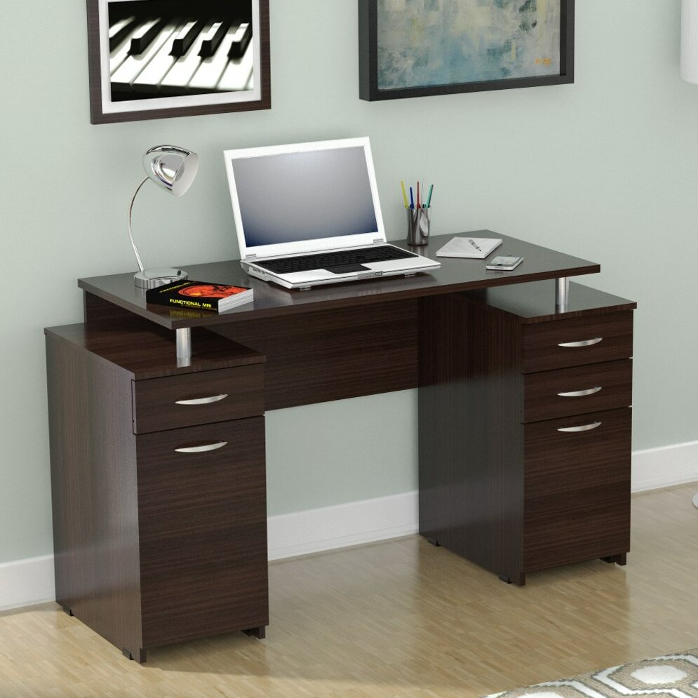 Latitude run bemis double pedestal desk reviews wayfair