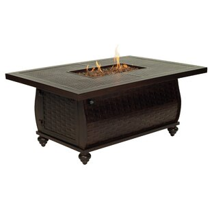 Leona French Quarter Aluminum Propane Fire Pit Table