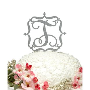 Square-Frame Wooden Cake Topper By aMonogram Art Unlimited