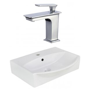 Best Reviews Ceramic 19.5 Bathroom Sink with Faucet and Overflow By Royal Purple Bath Kitchen