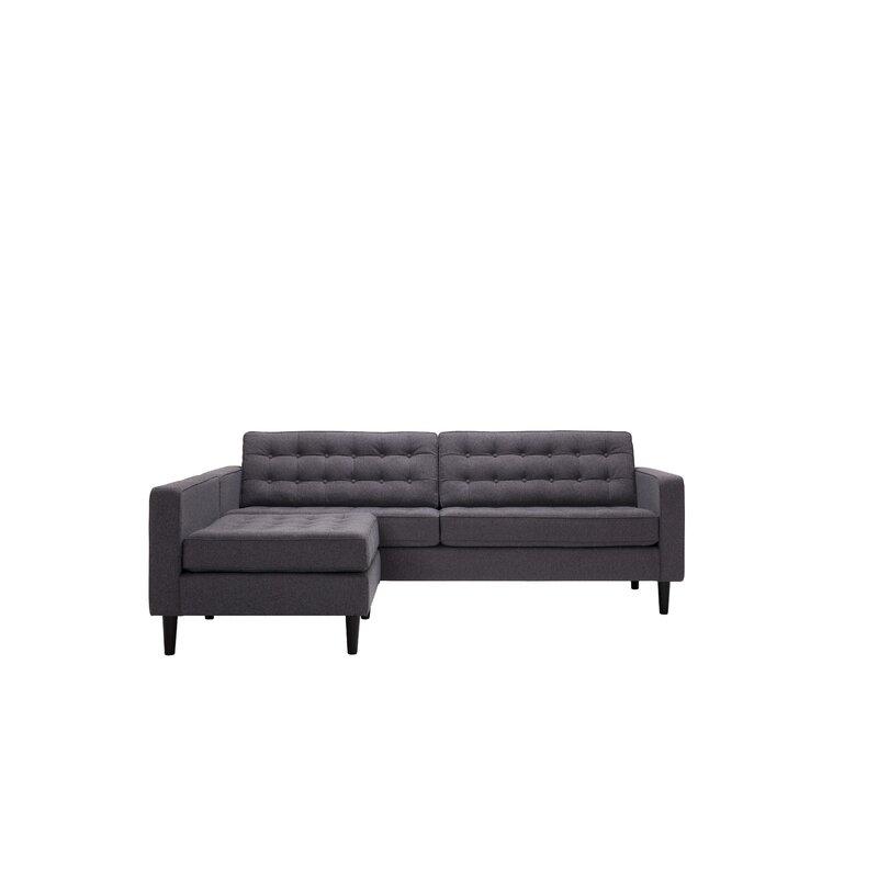 Eq3 Reverie 92 Genuine Leather Modular Sofa Chaise Wayfair