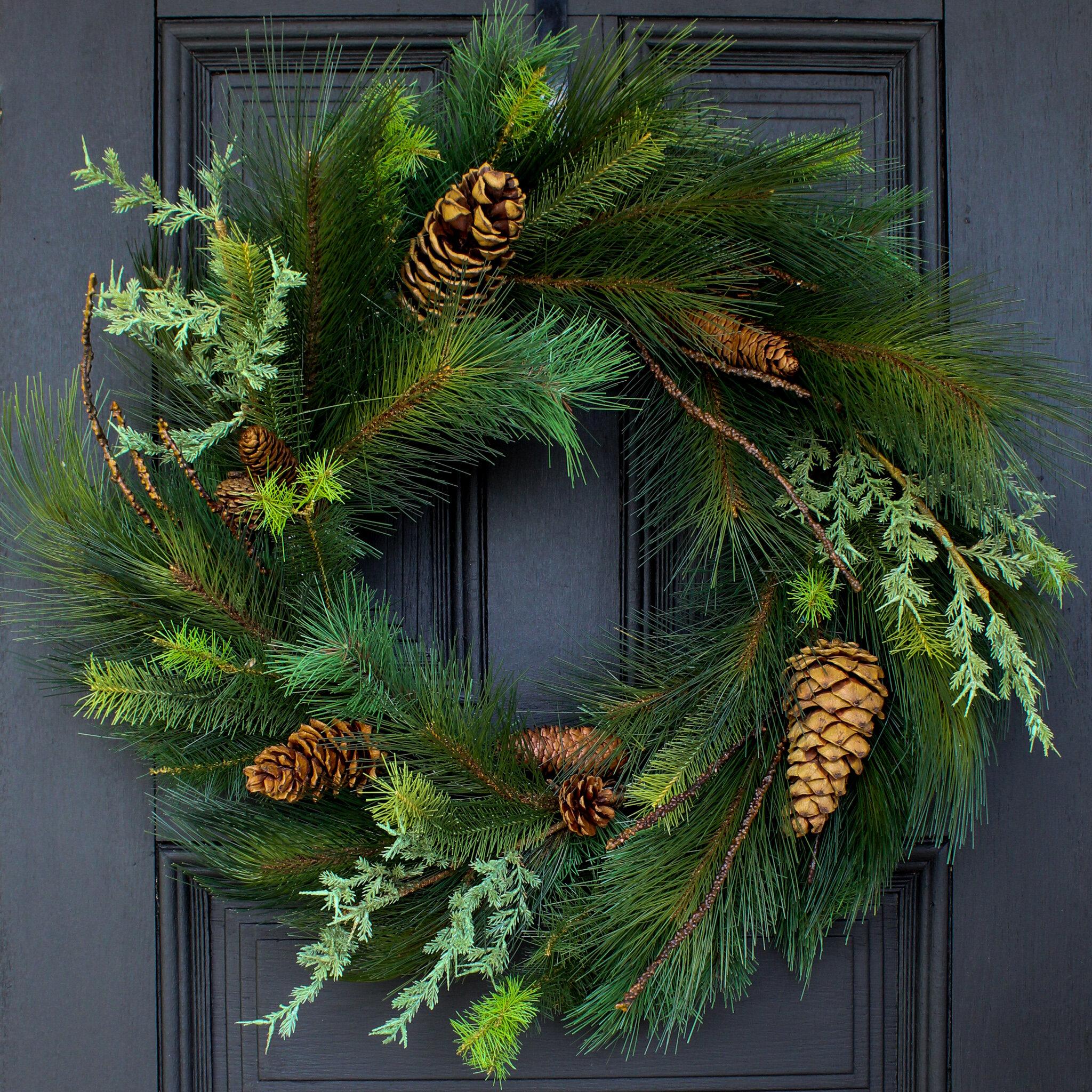 Winter Wreath-Christmas Wreath-Cedar Wreath-Large CEDAR Door Wreath Christmas Home Decor-Holiday Home Decor-Housewarming-Outdoor Wreath