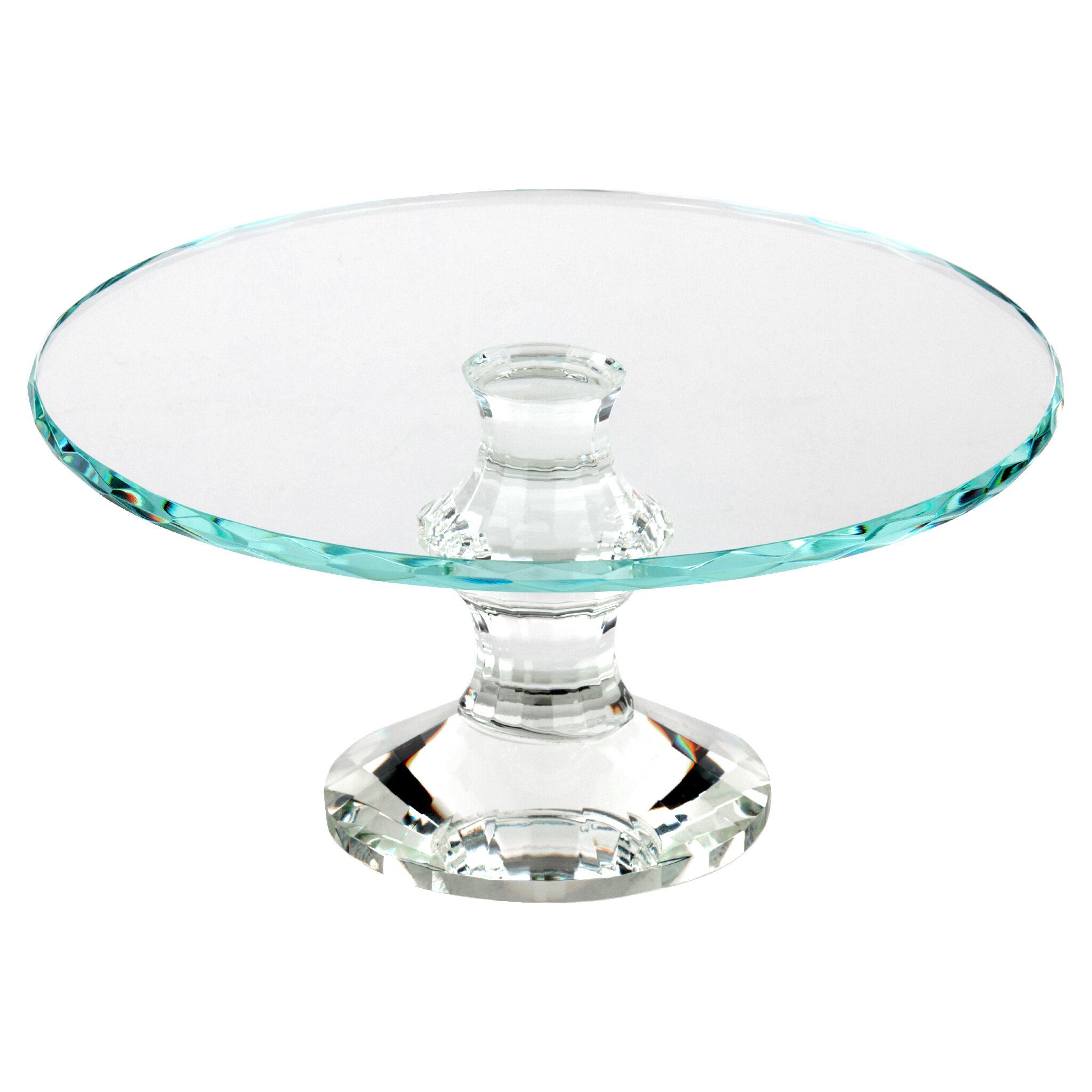 Winston Porter Welling Solid Crystal Cake Stand | Wayfair