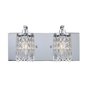 Buy clear Descoteaux 2-Light Vanity Light By Lark Manor