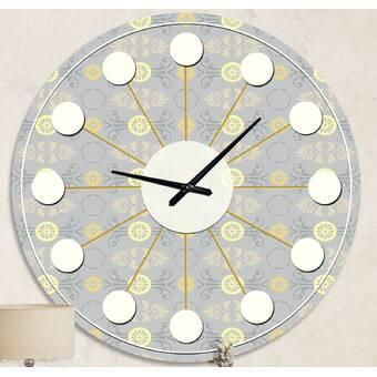 Orren Ellis Oversized Mendham Wall Clock Wayfair