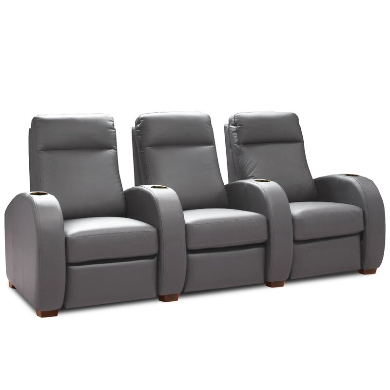 Laude Run Leather Home Theater Sofa