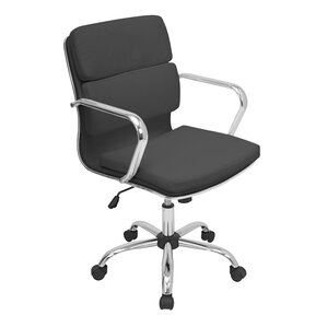 Modern Faux Leather Desk Chairs AllModern - White leather office chairs