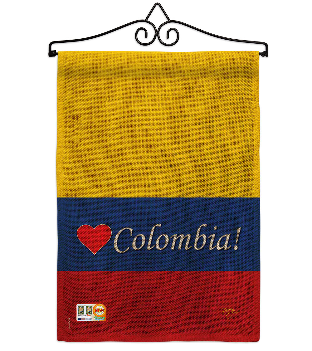 Breeze Decor Colombia Of The World 2 Sided Burlap 19 X 13 In Flag Set Wayfair