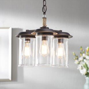 Beachcrest Home Sorrell 3-Light Shaded Chandelier