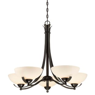 Fleur De Lis Living Cleaves 5-Light Shaded Chandelier