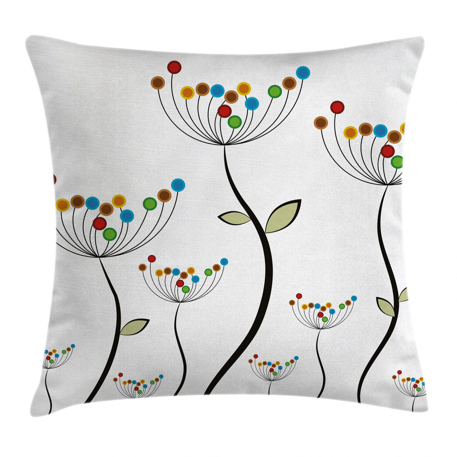 East Urban Home Dandelions Stems Buds Leaves Bedding Plants Wildlife Meadow Cottage Indoor Outdoor Floral 36 Throw Pillow Cover Wayfair