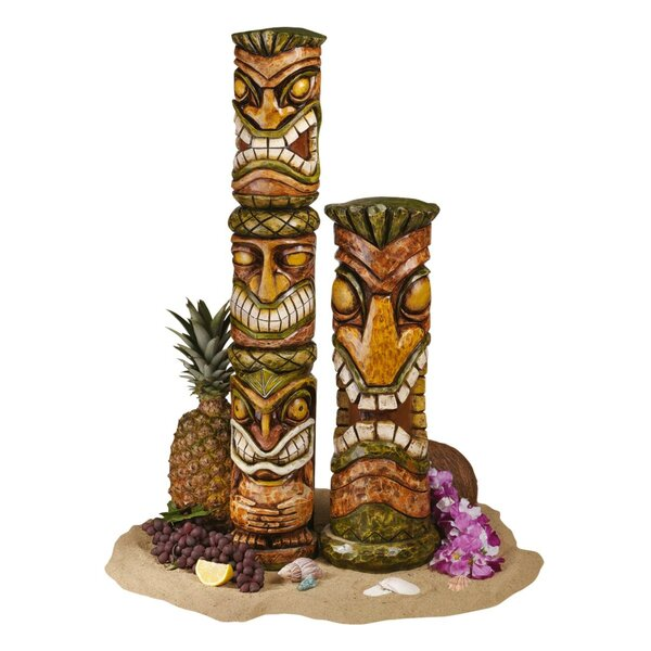 Giants 16 Inch Tiki Totem Pole Outdoor Resin Home Garden Statue Decoration Baseball Inc Rico Industries
