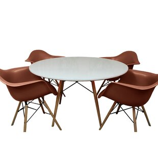 Paris Tower 5 Piece Dining Set by Mod Made
