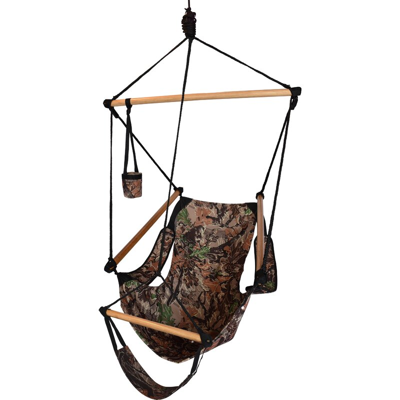 Beachcrest Home Crowell Polyester Chair Hammock  Color: Camouflage