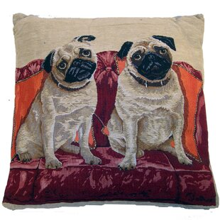Tapestry Pug Throw Pillow