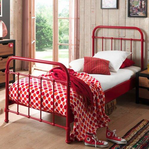 Metallbett Alley Harriet Bee Farbe: Rot  Liegefläche: 120 x 200 cm   Schlafzimmer > Betten > Metallbetten   Harriet Bee