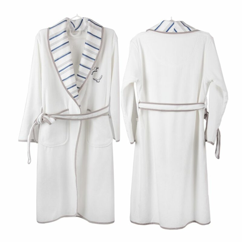 Cotton & Olive Seagull Organic Cotton Dressing Gown | Wayfair.co.uk