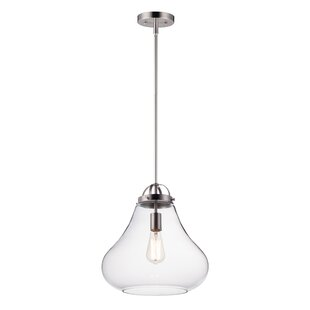 Kiester 1-Light Teardrop Pendant by Breakwater Bay