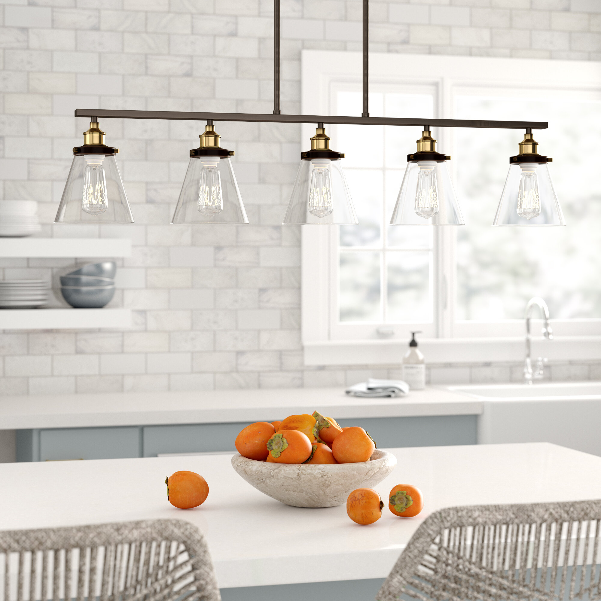 Picture of: Macon 5 Light Kitchen Island Pendant Reviews