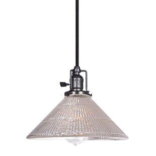 Gracie Oaks Edgar Mercury 1-Light Cone Pe..