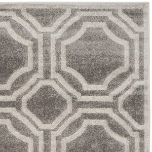 Maritza Grey & Light Grey Indoor/Outdoor Area Rug