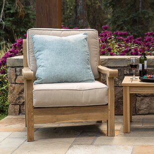 August Grove Chasity Teak Patio Chair wit..