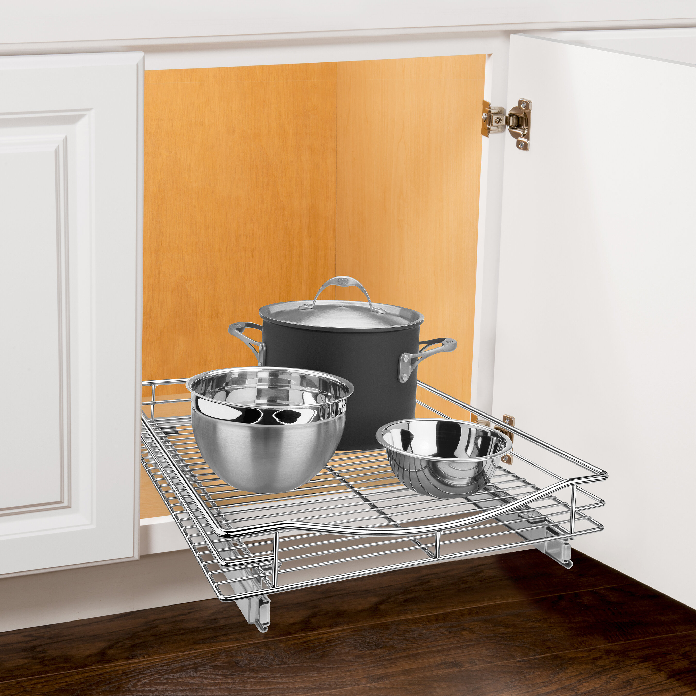x pull organizer dining sliding reviews out drawer inch shelf roll pdp wide ca lynk chrome under deep cabinet wayfair