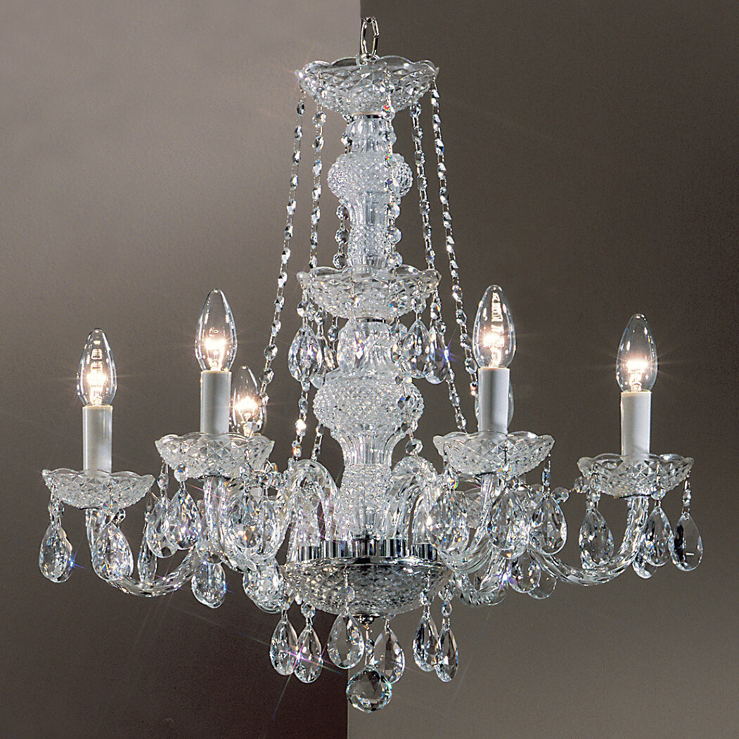Monticello 6 Light Crystal Chandelier Classic Lighting