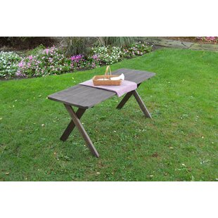 Check Out Pastrana Cross Leg Wooden Picnic Table with Umbrella Hole Great Price