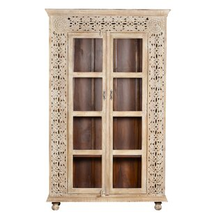 Alia Carved Panel Glass China Cabinet