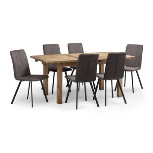 Barney Extendable Dining Set With 6 Chairs By Williston Forge