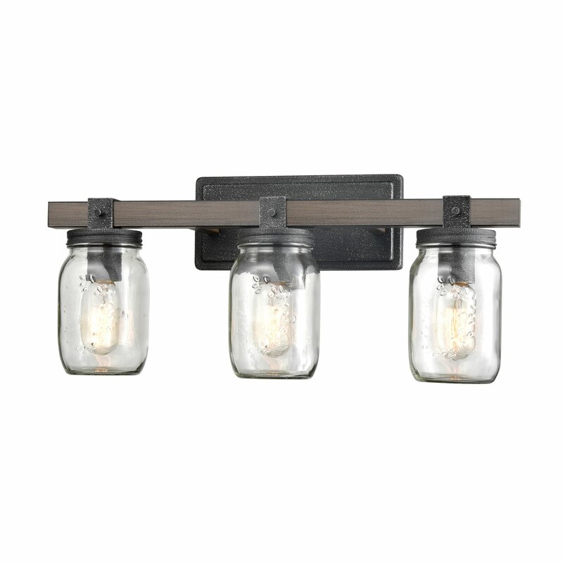 Gracie Oaks Adam Vintage 3 Light Vanity Light Reviews Wayfair