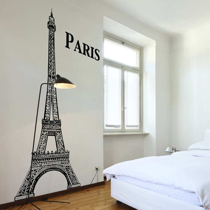 Elegant Home Decor Line Eiffel Tower Wall Decal