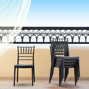 Bormann Stacking Patio Dining Chair (Set of 2)