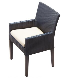 TK Classics Napa Patio Dining Chair with Cushion (Set of 2)