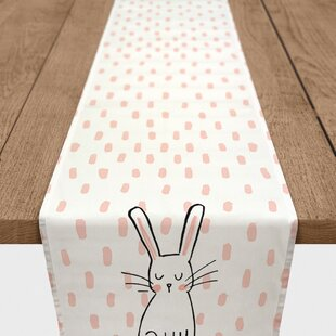 Biggins Cute Bunny Cotton Table Runner
