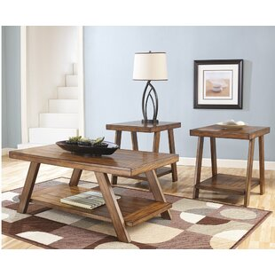 Loon Peak Carlos 3 Piece Coffee Table Set