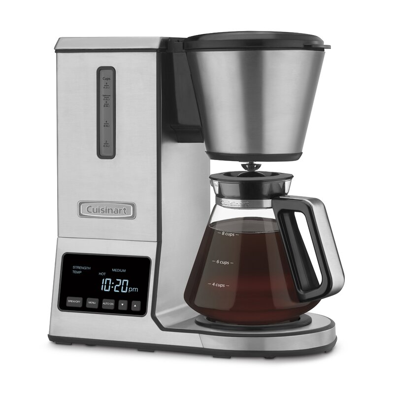 Glass Coffee Makers cuisinart 8-cup glass pour over coffee maker & reviews | wayfair