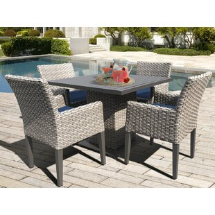 TK Classics Oasis 5 Piece Dining Set with Cushions