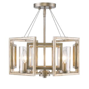 Brayden Studio Politte 4-Light Semi Flush Mount