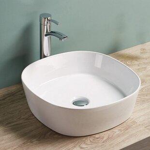 Vanitesse Ceramic Square Vessel Bathroom Sink