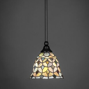 Best Review Wolfe 1-Light Mini Pendant By Red Barrel Studio