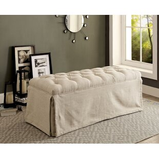 Crete Button Tufted Wood Bench by Ophelia..