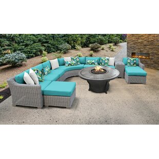 Coast Outdoor 11 Piece Sectional Seating Group with Cushions