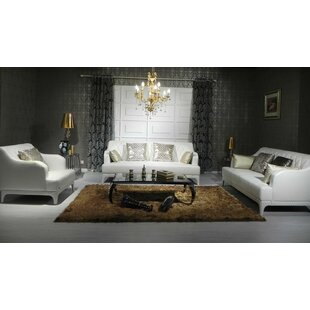 Cana 3 Piece Leather Living Room Set